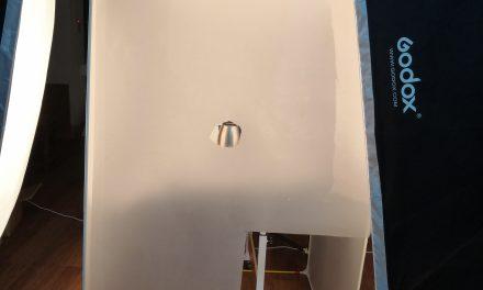 自制柔光屋拍摄不锈钢产品