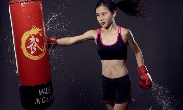 人像摄影-美女拳击运动
